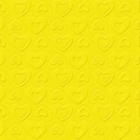 Servetten 33x33 cm - CARINO UNI geel