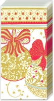 mouchoirs NAVIDAD DECORATIVA white red