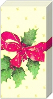 handkerchiefs CHRISTMAS BOW cream