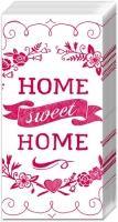 Taschentücher - HOME SWEET HOME weiß rot