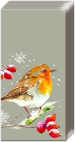 handkerchiefs WINTER ROBIN linen