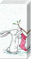 handkerchiefs CHARMING SNOW RABBITS