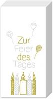 handkerchiefs ZUR FEIER DES TAGES gold silv.