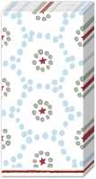 handkerchiefs WINTER DOTTY light blue