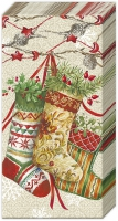 mouchoirs DECORATIVE STOCKINGS linen