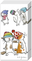 handkerchiefs CATS WITH HATS