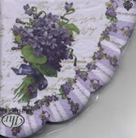 Napkins - round MY LADY VIOLETS purple