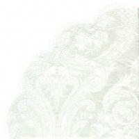serviettes - round GRANDEUR white
