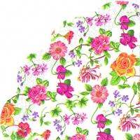 Servietten - Rund Flower Potpourri
