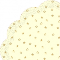Servietten - Rund LITTLE STARS cream gold