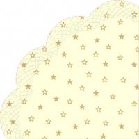 Servietten - Rund LITTLE STARS cream gold