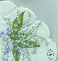 Servietten - Rund CONVALLARIA cream