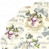 Napkins - round ROSE DE PRINTEMPS cream