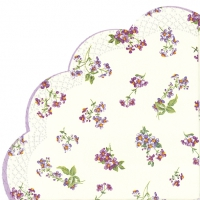 serviettes - round BELLINA cream