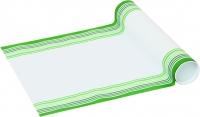 Tischläufer CROSS white green
