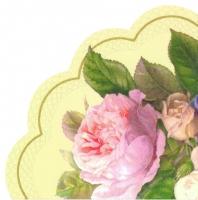 Servietten - Rund FAIRY ROSE cream