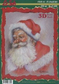 3D Bogen Buch Weihnachtsmann - Format A4