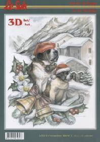 3D sheet book Weihnachten (St. Bernardino) - Format A4
