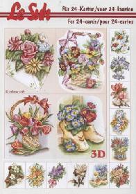 3D Bogen Buch Mini-Blumen - Format A5