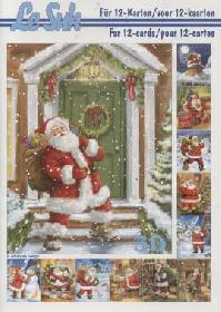 3D Bogen Buch Weihnachtsmann - Format A5