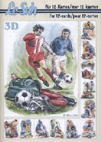 3D sheet book Fussball - Format A5