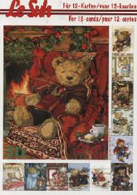 3D Bogen Buch Weihnachtsbären - Format A5