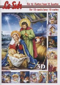 Carta per 3D - Libro Weihnachtskrippe - Formato A5