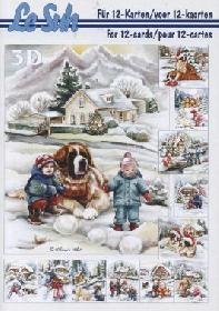 Hojas de 3D - Libro Weihnachten im Schnee - Formato A5