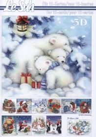 Hojas de 3D - Libro Weihnachten Format A5