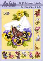 Hojas de 3D - Libro Schmetterling - Formato A5