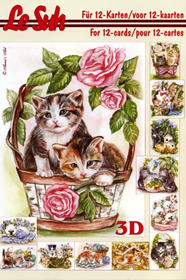 3D sheet book Katzen - Format A5