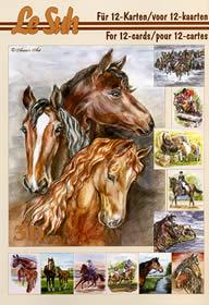 Hojas de 3D - Libro Pferde - Formato A5