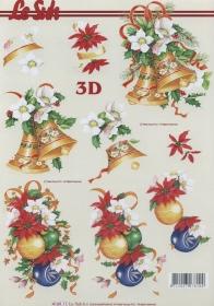 3D sheet Format A4 Weihnachtsglocken + Kugeln