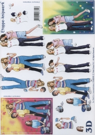 Carta per 3D Format A4 - Mädchen