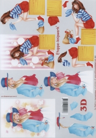 Feuille 3D Format A4 - Ladys