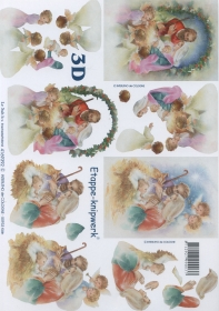 3D Bogen Format A4 - Krippe