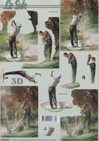 3D sheet Format A4 Golfspieler
