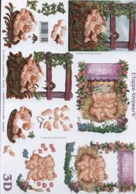 3D sheet Format A4 lustige Schweine