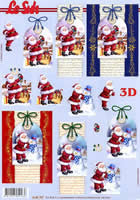 3D sheet Weihnachtsmann auf Karte Format A4