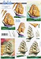 3D sheet Format A4 Schiffe
