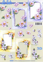 Hojas de 3D Format A4 Blumenrahmen