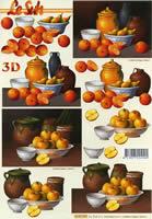 3D Bogen Format A4 Äpfel und Orangen