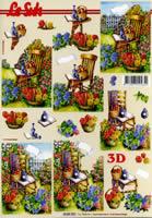 Feuille 3D Format A4 Stuhl im Garten