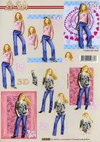 Carta per 3D Mädchen Format A4
