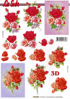 3D Bogen Format A4 Rosen