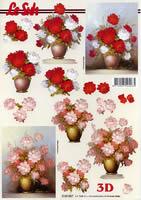 3D sheet Blumen in der Vase Format A4