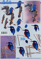 3D sheet Format A4 Eisvogel