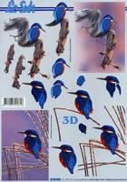 Feuille 3D Format A4 Eisvogel