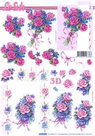 3D sheet Rosenstrauß Format A4