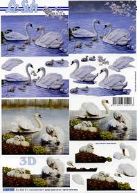 Feuille 3D Schwan - Format A4